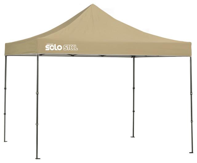Solo Steel 100 10&x27;x10&x27; Straight Leg Canopy, Khaki.