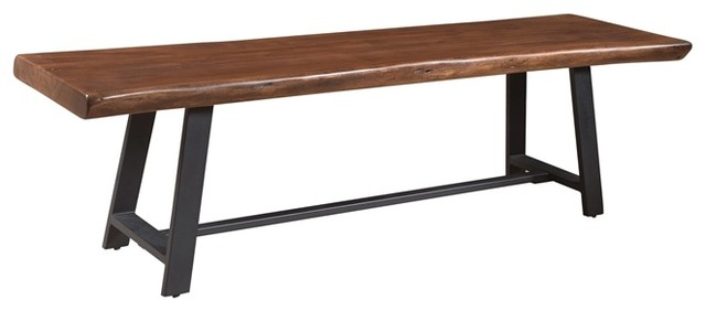 Delightful Coast To Coast Highlander Brown Dining Bench, Brown And Gray Industrial  Dining Benches