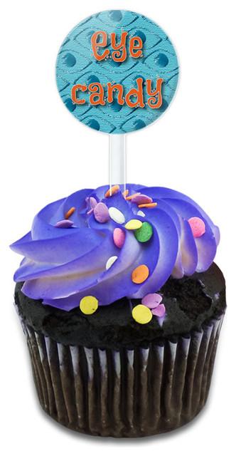 Eye Candy Take A Closer Look Cupcake Toppers Picks Set.