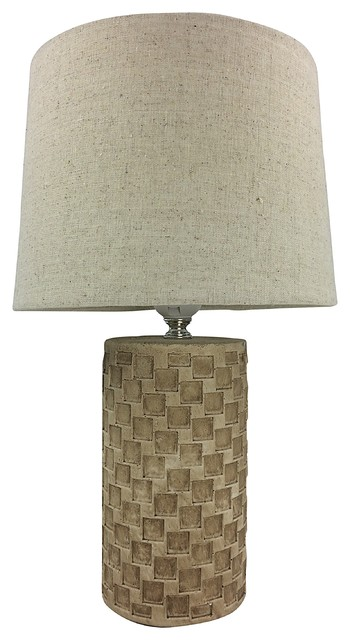 Beige Tile Lamp With Shade