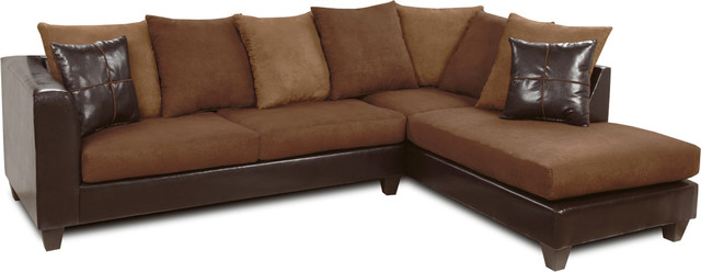 Reynaldo Sectional Denver Mocha, Victory Chocolate, Victory Sepia, Brown