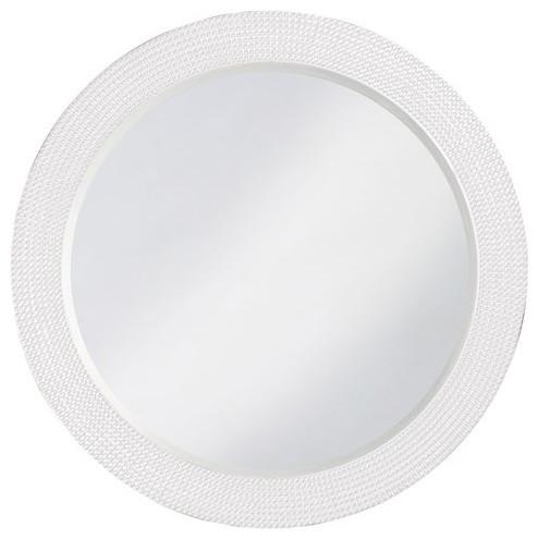 Howard Elliott Lancelot Round Mirror, White.