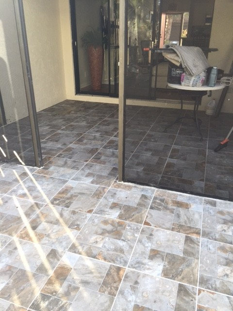 I Just Had This Tile Laid On My Patio And Screened In Porch. Is There Any  Benefit To Sealing It? Any Ideas On Designs, Furniture, Layout Would Be ...