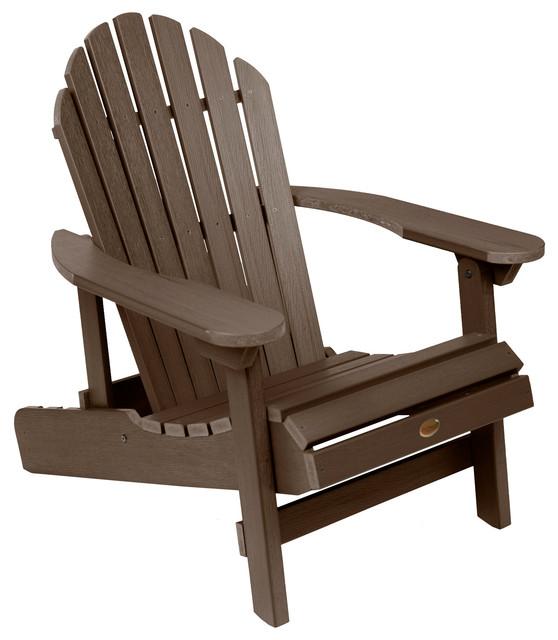 Hamilton Folding and Reclining Adirondack Chair, Weathered Acorn