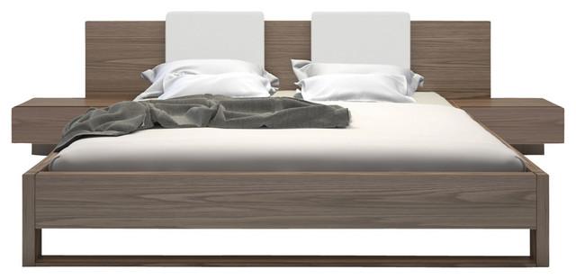 Monroe King Bed Contemporary Platform Beds by Modloft