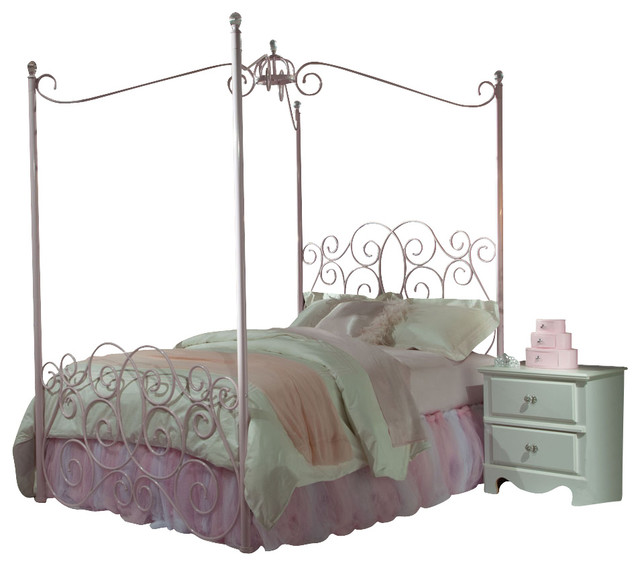 Standard Furniture Princess 3 Piece Kidsu0027 Canopy Bedroom Set In Pink Metal