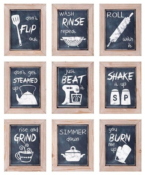 Kitchen Inspirations Wall Decor, Set Of 9.