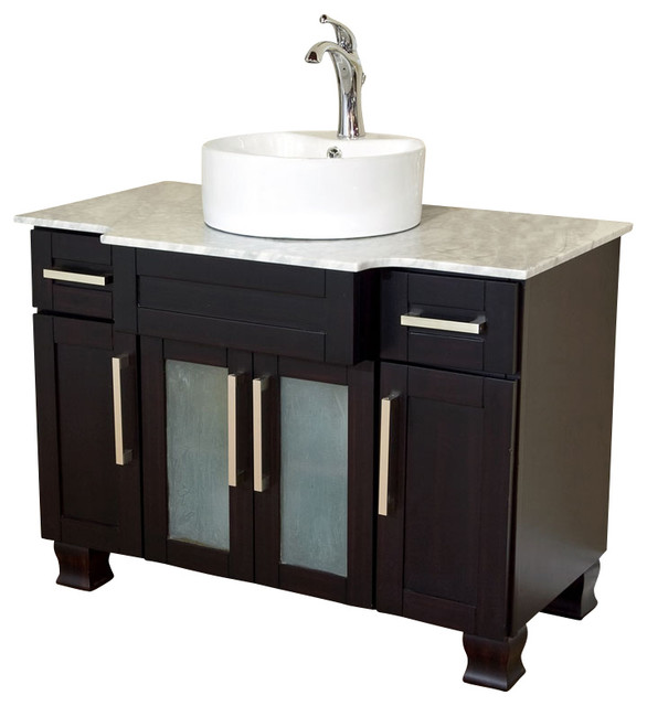 Bellaterra Home 40 Inch Single Sink Vanity Dark Mahogany
