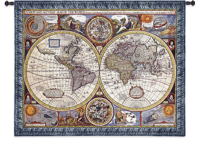 Old world map small wall tapestry traditional tapestries by old world map small wall tapestry gumiabroncs Gallery