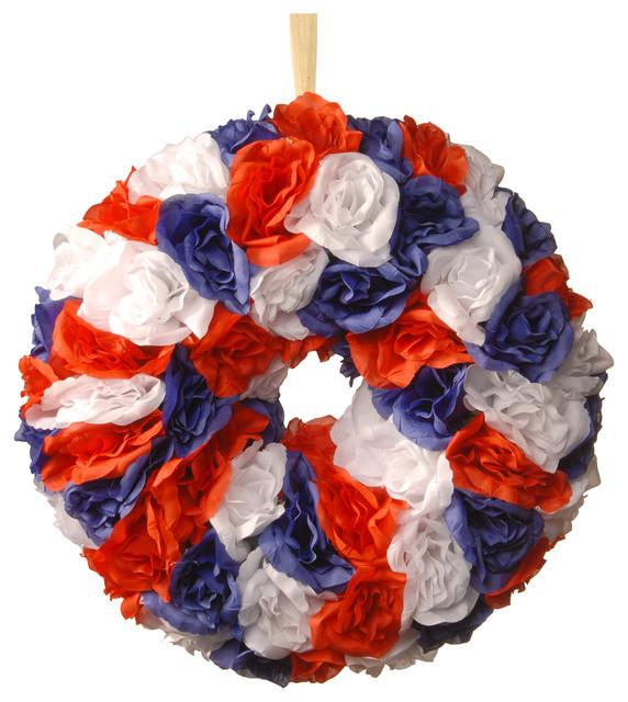 """14"""" Patriotic Rose Wreath."""