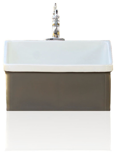 Grey Brown Vintage Style Kohler Hollister Farm Sink Apron Utility Sink K 1279