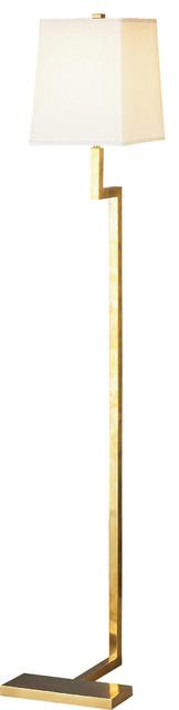 Robert Abbey Doughnut Floor Lamp, Brass.