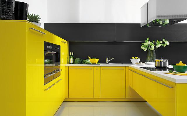 Cucine gialle che portano buonumore in casa