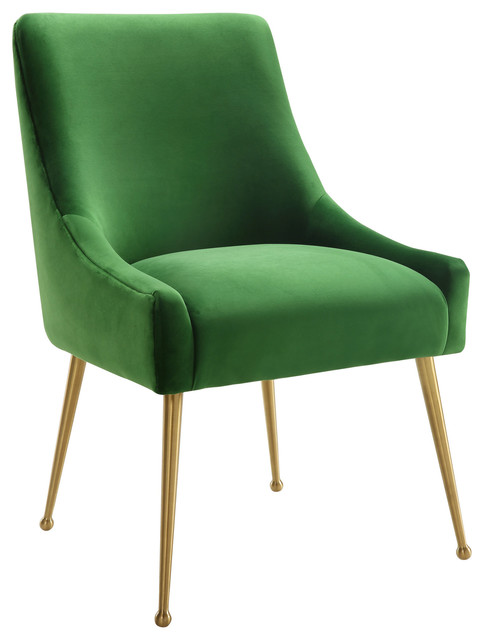 Beatrix Velvet Side Chair, Green