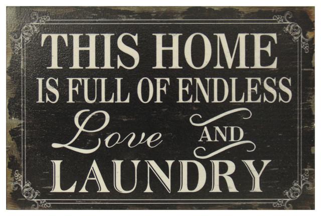 """endless Laundry"" Wall Decor."