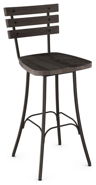Outstanding Distressed Dock Swivel Stool Gunmetal Finish Dark Grey Wood Counter Height Ibusinesslaw Wood Chair Design Ideas Ibusinesslaworg