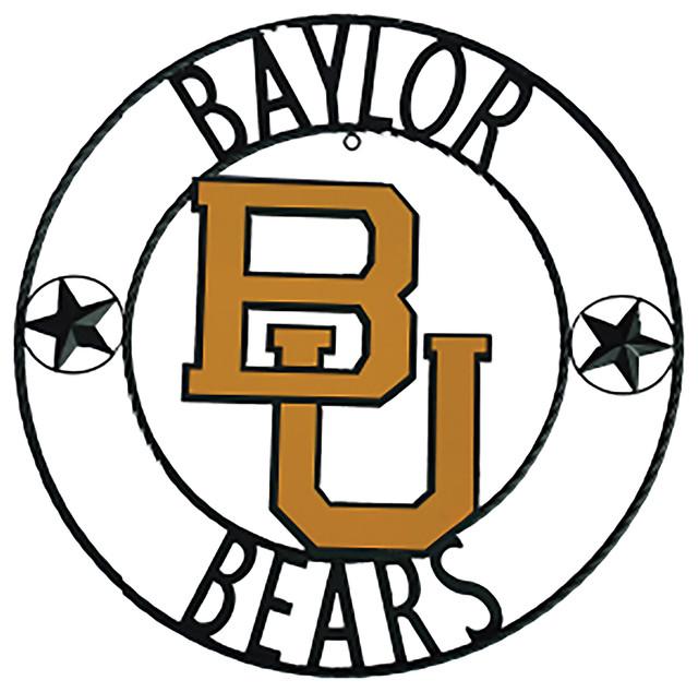 Baylor Bears Wrought Iron Wall Decor 18