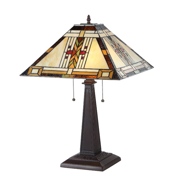 Gode 2 Light Mission Table Lamp Craftsman Table Lamps
