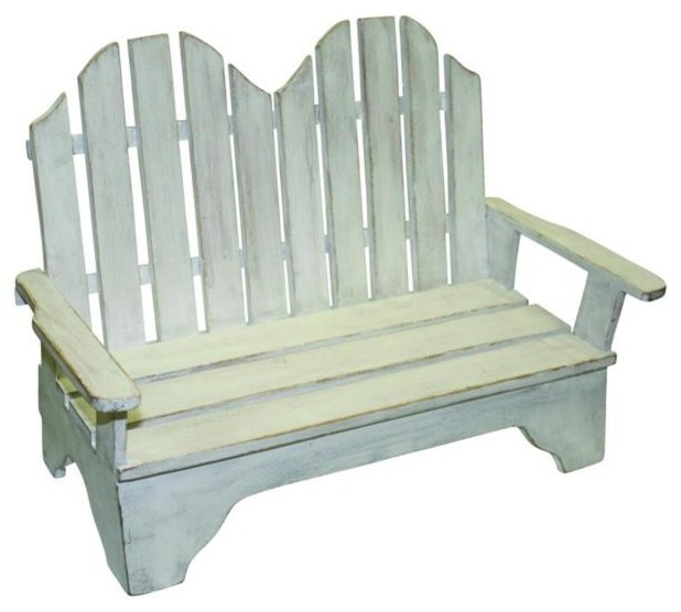 Remarkable Vintage Style White Wood Beach Doll Chair Bench Bathing Beauty Sofa Theyellowbook Wood Chair Design Ideas Theyellowbookinfo