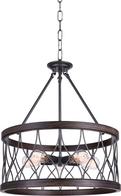 Amazon 5 Light Drum Shade Chandelier, Gun Metal.
