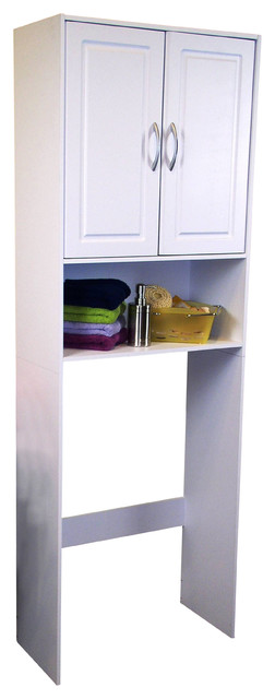 4D Concepts Double Door Space Saver in White - Traditional - Bathroom Cabinets And Shelves - by ...