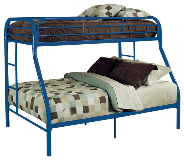 Reylan Bunk Bed, Blue, Twin Over Queen.