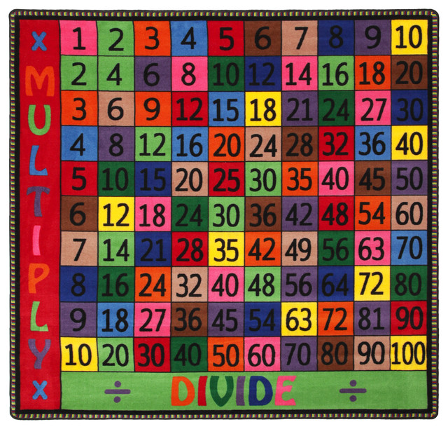 Multiply And Divide Rug, 6&x27;x6&x27;.