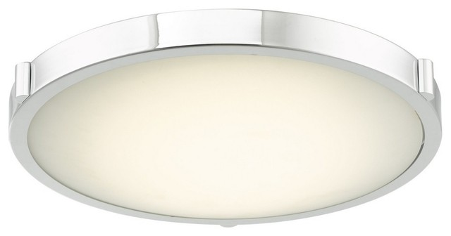 Halo 16.8 29w 1 Led Flush Mount Brushed Nickel Frosted Glass.