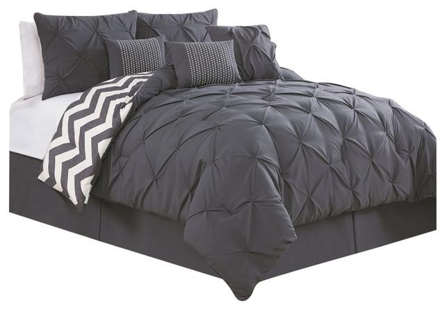 Avondale Manor Ella 7 Piece Comforter Set Charcoal King