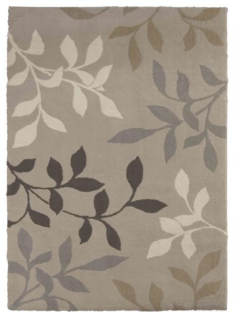 Orian Rugs Plush Leaves Melrose Adobe Runner