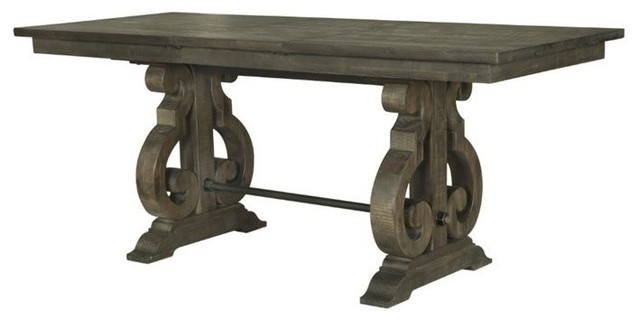 Rectangular Counter Height Table in Weathered Pine by Magnussen Home Furnishings