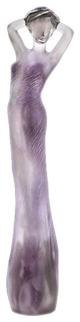 Daum Crystal Adele Gray Purple 05426