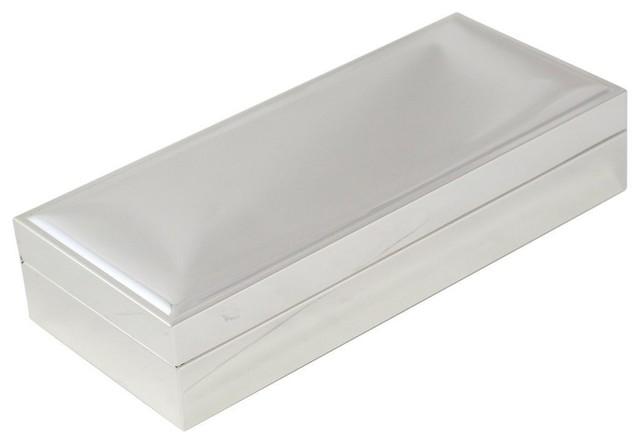 BeyBerk MGL Nickel Plated Rectangular 3 12x8 Hinged Box With