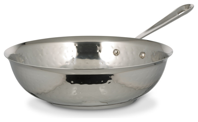 "Cucina Stir Fry Pan, Hammered Finish, Induction Bottom, 10"""