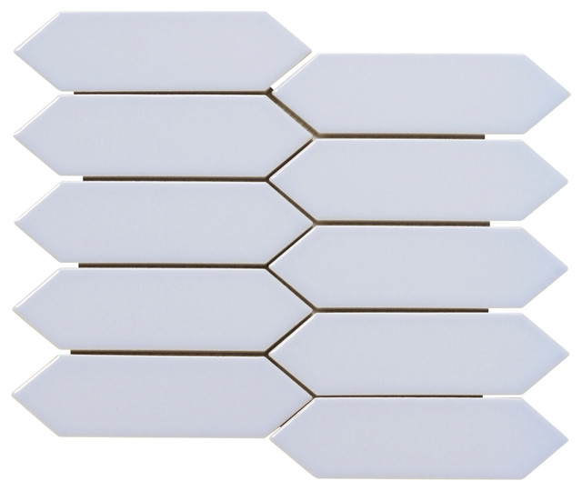 "Elixir Sky MO/8""x10"" Porcelain Mosaic Tile, Set of 11"