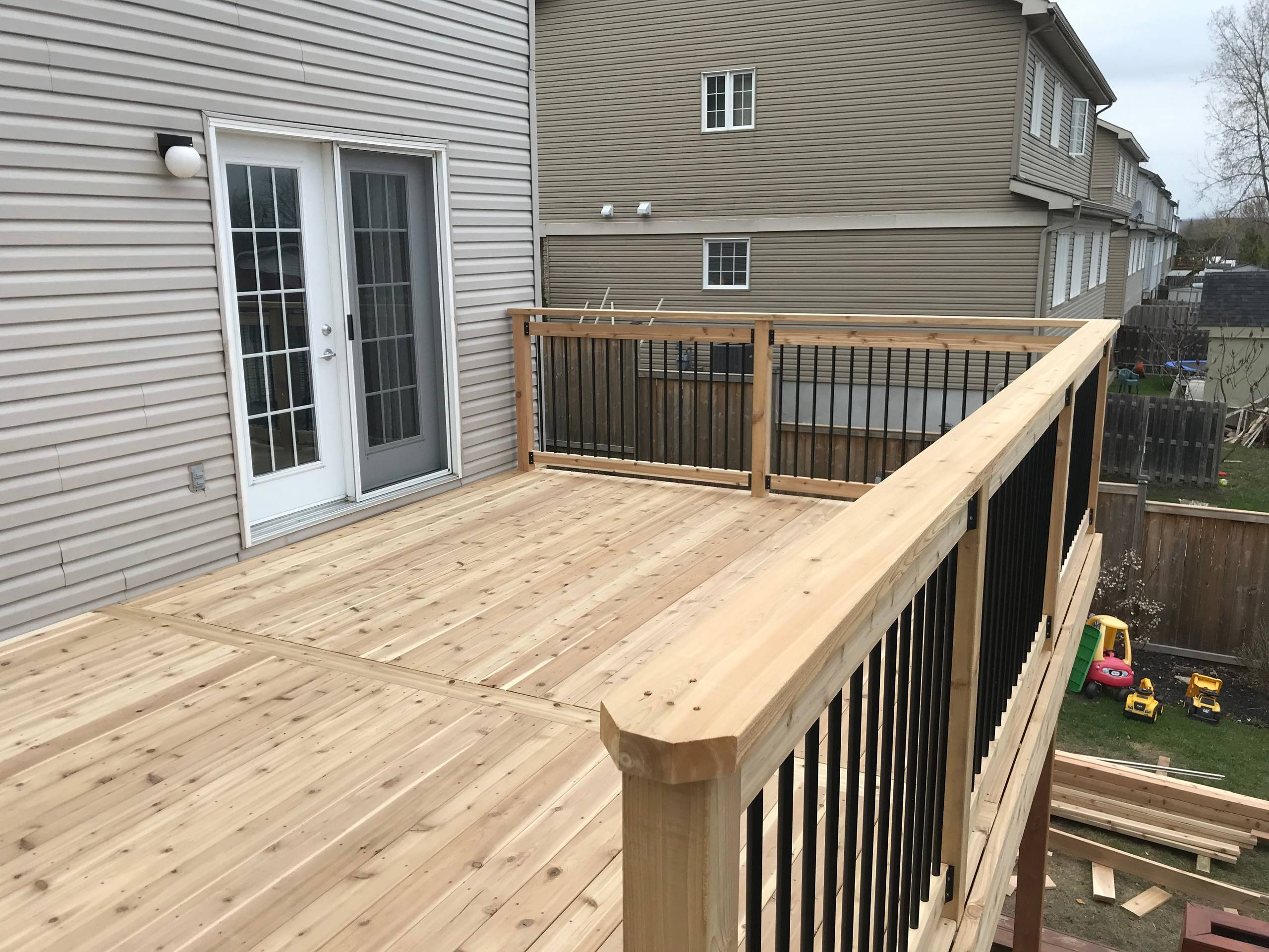 one solid 18', 2 x 6 cap for railing
