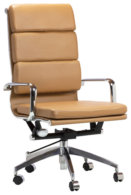 Soft Pad Executive Chair, High Back, Midcentury Modern Contemporary Office  Chairs