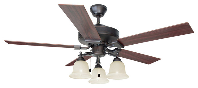 Ironwood 52 Ceiling Fan 3-Light Brushed Bronze.