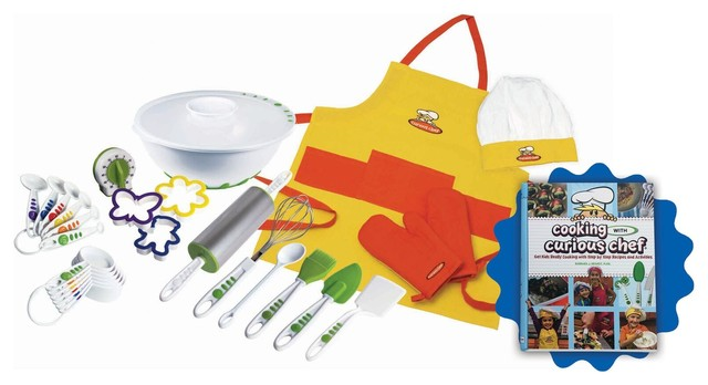 Cooking With Curious Chef Cookbook Foundation Set Bundle, 27-Piece Set.