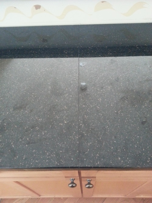 Ugly Seams On Black Galaxy Countertops