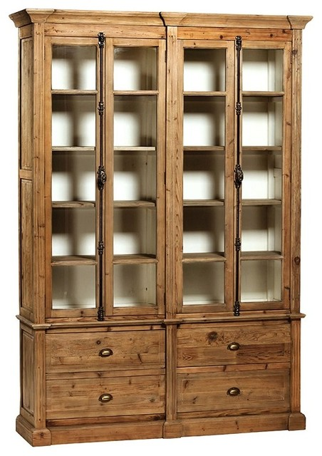 Natural Hand Rubbed Bookcase.