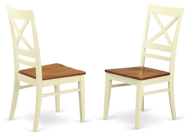 Incredible East West Furniture Quc Whi W Kitchen Dining Chair Set With X Back Buttermilk C Gmtry Best Dining Table And Chair Ideas Images Gmtryco