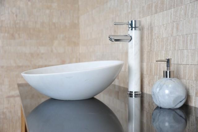 Stone Bathroom Sinks Uk : Apollo - White Stone Bath Sink - Modern - Bathroom Sinks - Brisbane ...