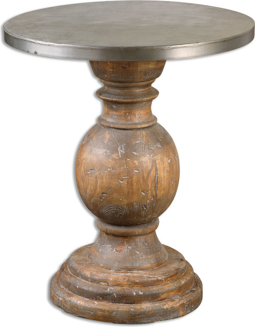 Bertrand Wooden Accent Table.