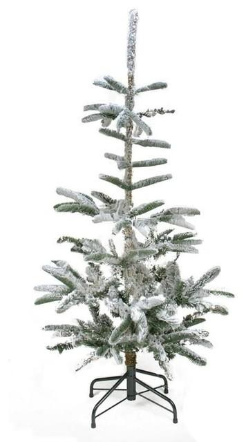 Noble Fir Christmas Tree.4 5 Flocked Noble Fir Artificial Christmas Tree Unlit