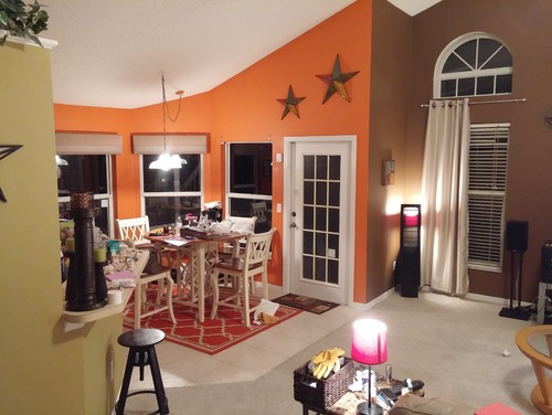 Open Living Room And Kitchen Nook Paint. Part 15