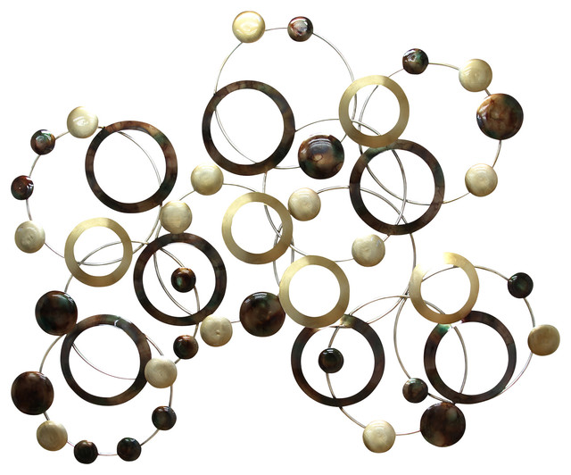 Circle Metal Wall Art circles and hoops wall decor - transitional - metal wall art -