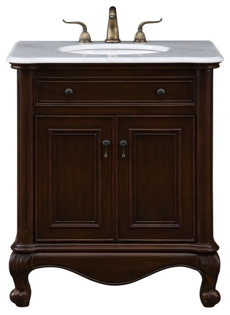 Luxe 30  Single Bathroom Vanity Set Teak traditional bathroom vanities and Traditional