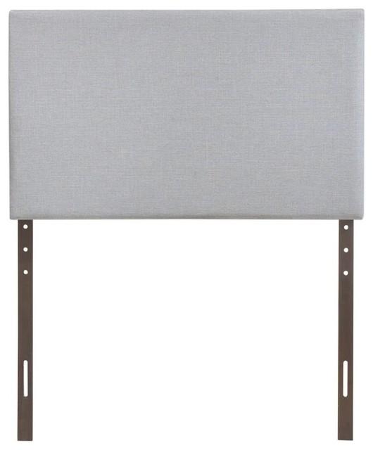 Modway Region Upholstered Twin Panel Headboard, Sky Gray.