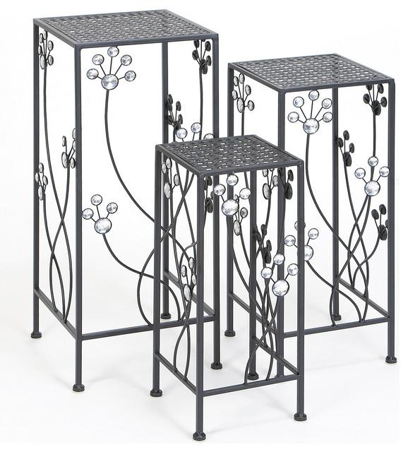 Metal Plant Stand, 3-Piece Set.